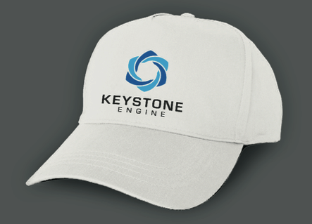 Headcap with colored logo